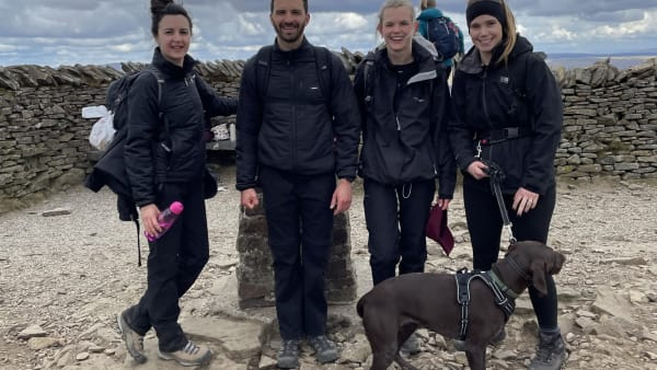 Daughter climbs Yorkshire Three Peaks to thank staff caring for dad