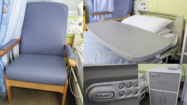 Respiratory patients benefit from brand new bedside furniture at Leeds Teaching Hospitals