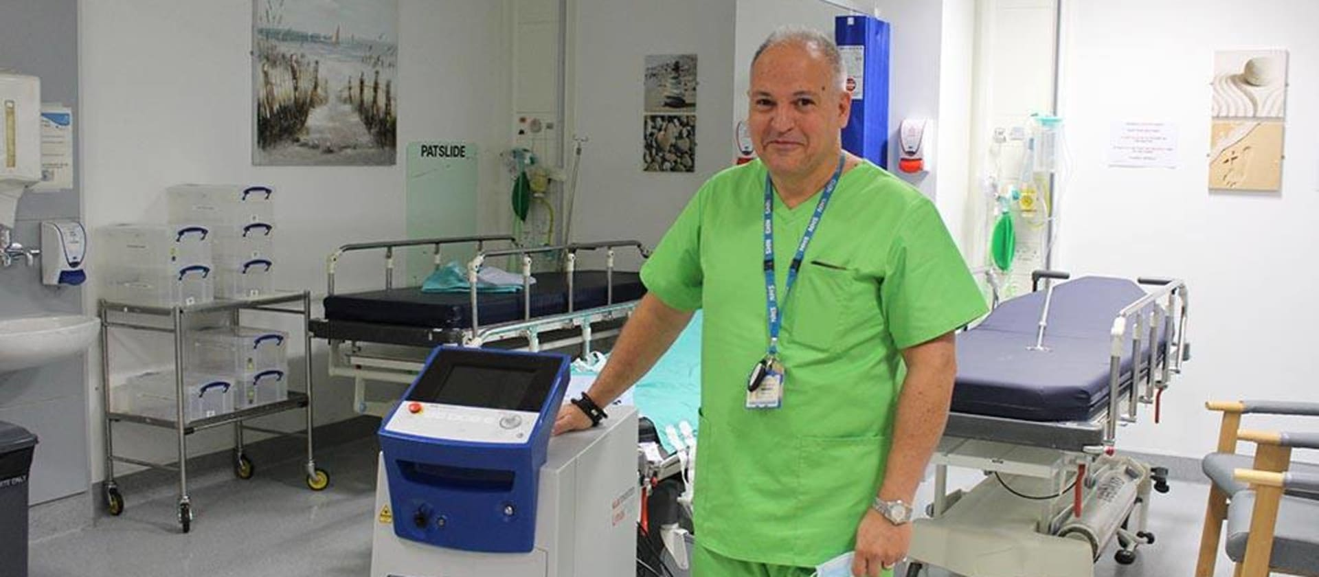 Charity funded laser helps cancer patients