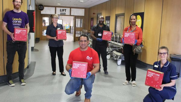 Family of former Leeds rugby star deliver care packs to hospital staff