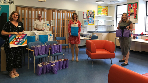 Charitable donations transform hospital classroom into staff wellbeing area